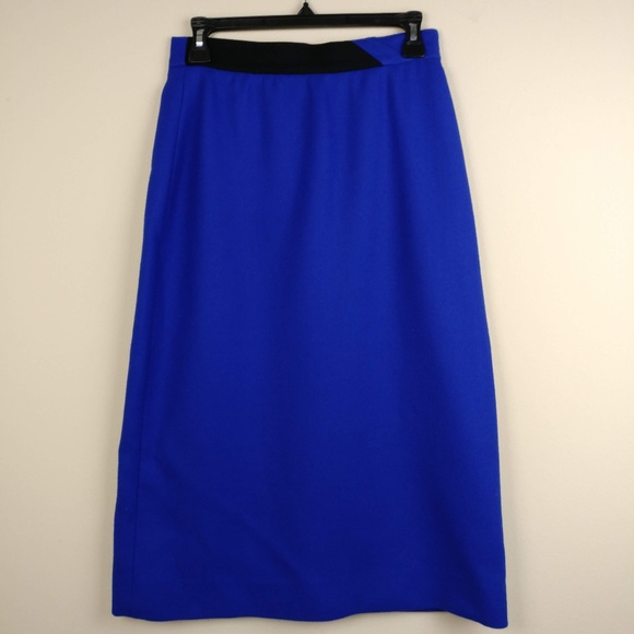 Louis Feraud Dresses & Skirts - Louis Faraud Wool Pencil Skirt Midi Length Blue 8
